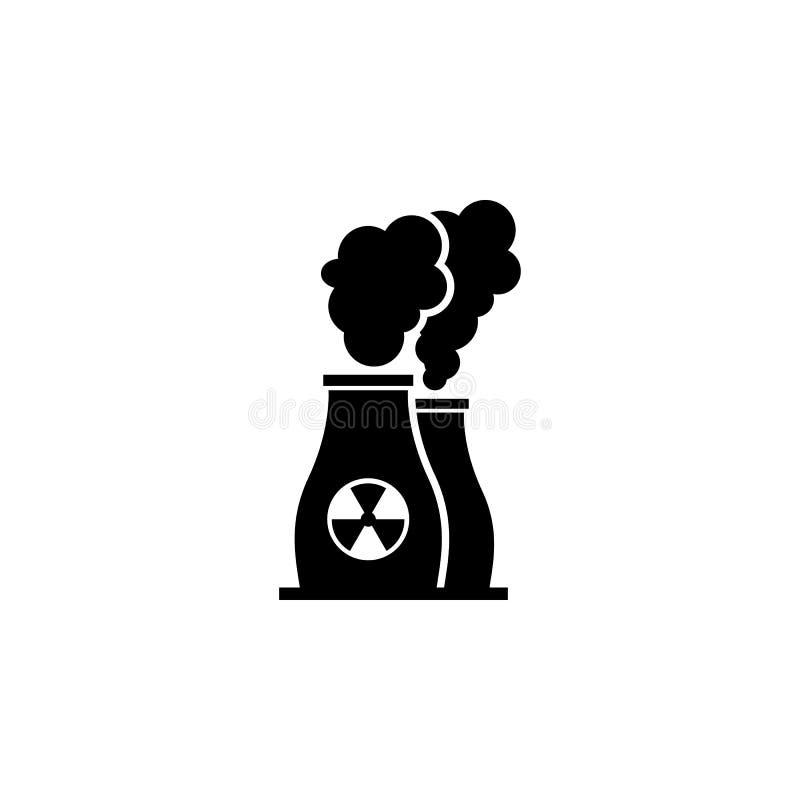 Het pictogram van de kernenergieinstallatie Olie de elementen van een gaspictogram Grafisch het ontwerppictogram van de premiekwa vector illustratie