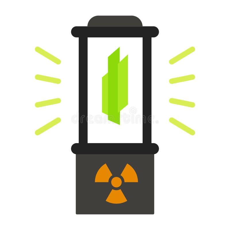Het pictogram van de kernfusiedoos, vlakke stijl stock illustratie