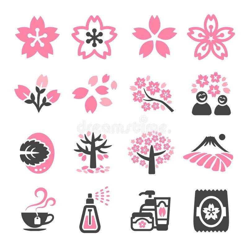 Het pictogram van de kersenbloesem royalty-vrije illustratie
