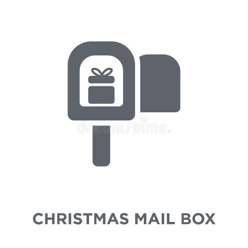 het pictogram van de Kerstmisbrievenbus van Kerstmisinzameling vector illustratie