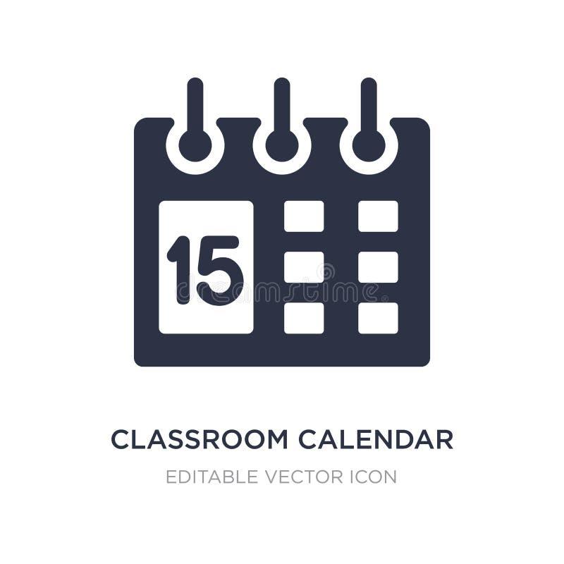 het pictogram van de klaslokaalkalender op witte achtergrond Eenvoudige elementenillustratie van Algemeen concept royalty-vrije illustratie