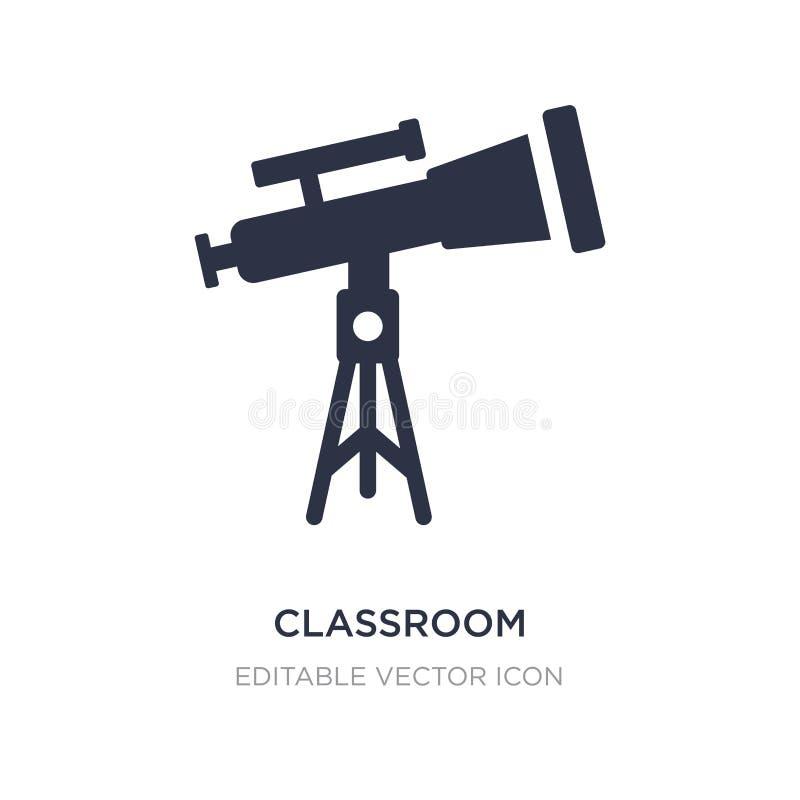 het pictogram van de klaslokaaltelescoop op witte achtergrond Eenvoudige elementenillustratie van Algemeen concept stock illustratie