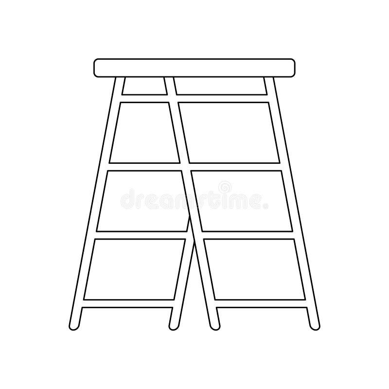 het pictogram van de kleurenladder Element van bouwhulpmiddelen voor mobiel concept en webtoepassingenpictogram Overzicht, dun li stock illustratie
