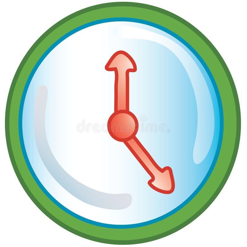 Het pictogram van de klok vector illustratie