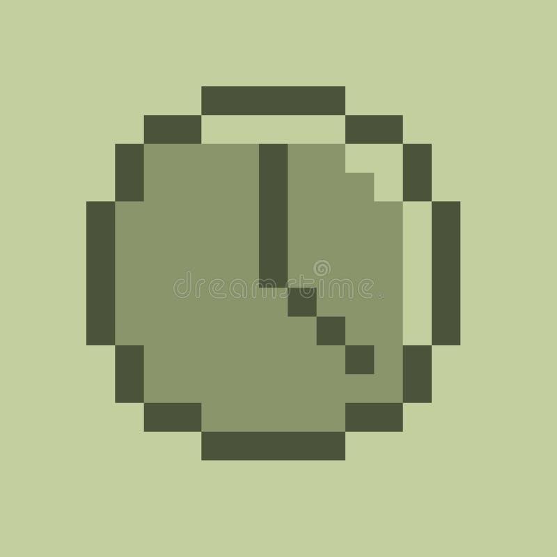 Het pictogram van de klok stock fotografie