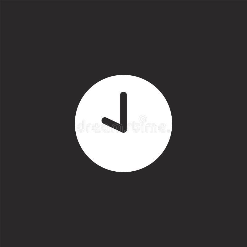 Het pictogram van de klok Gevuld klokpictogram voor websiteontwerp en mobiel, app ontwikkeling klokpictogram van gevulde geïsolee royalty-vrije illustratie