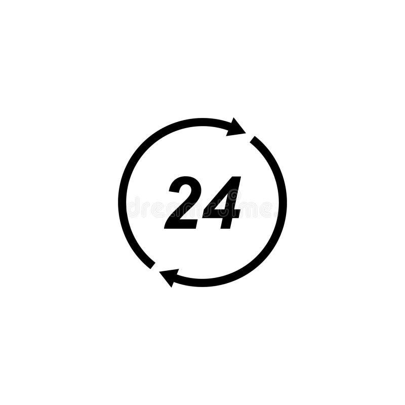 Het pictogram van de klok Vlakke vectorillustratie vector illustratie