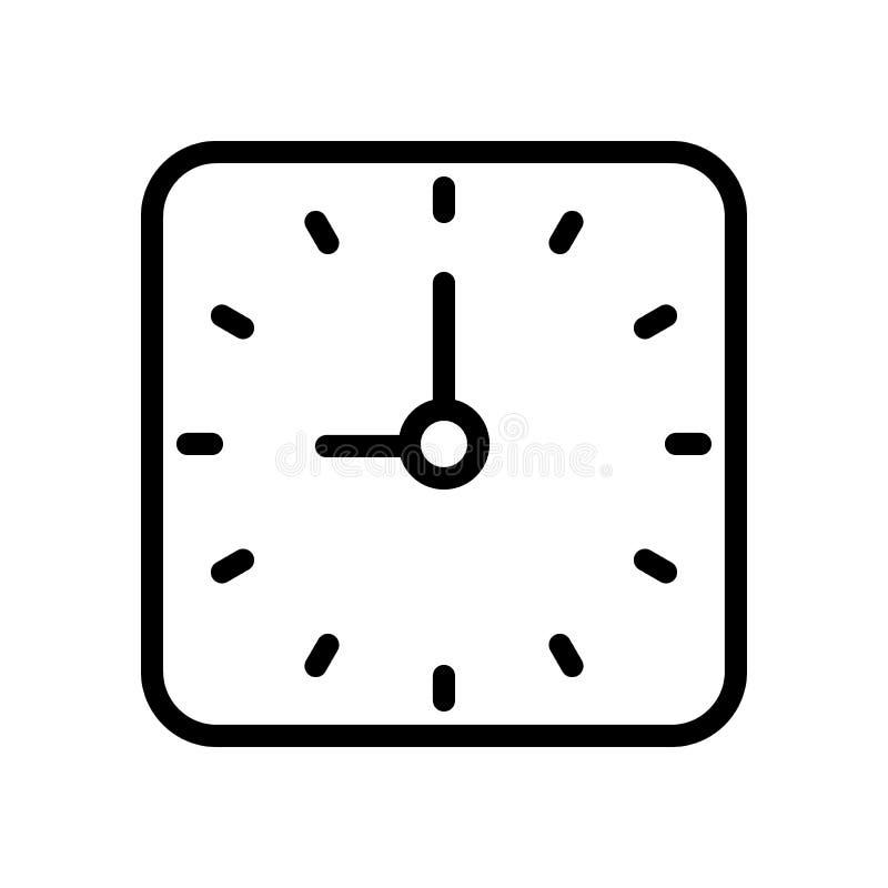 Het pictogram van de kloklijn royalty-vrije illustratie