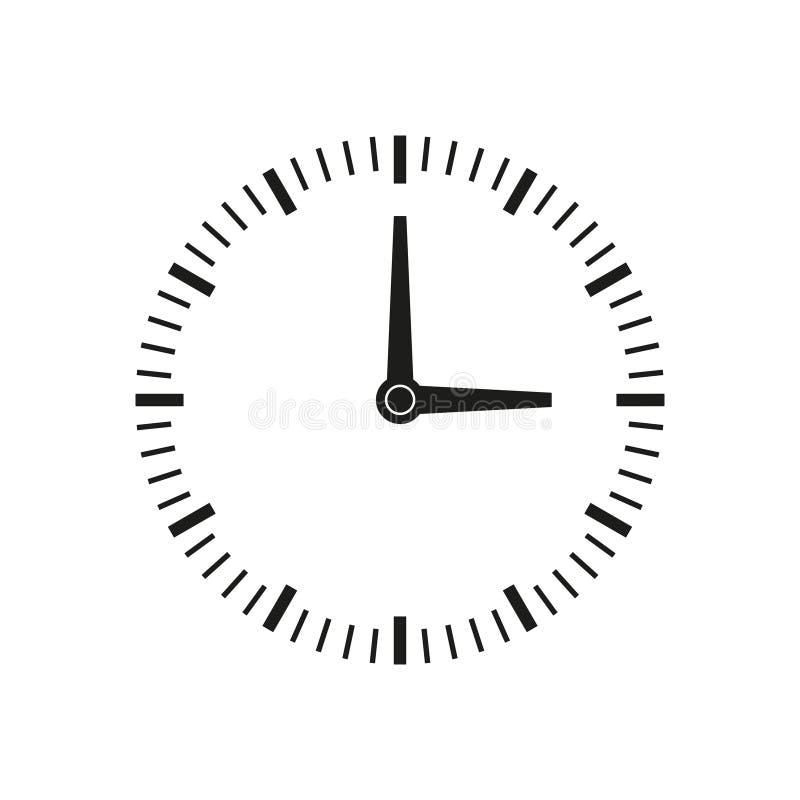 Het pictogram van de kloktijd stock illustratie