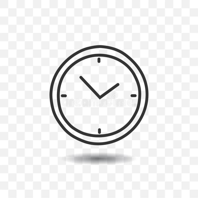 Het pictogram van de kloktijdopnemer stock illustratie
