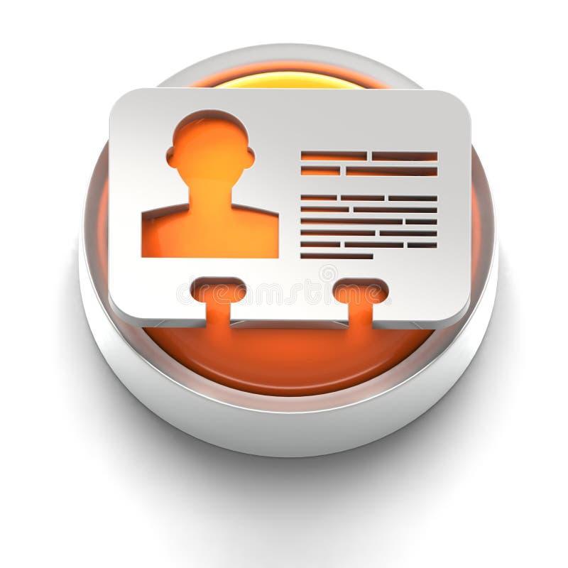 Het Pictogram van de knoop: Identiteitskaart royalty-vrije illustratie