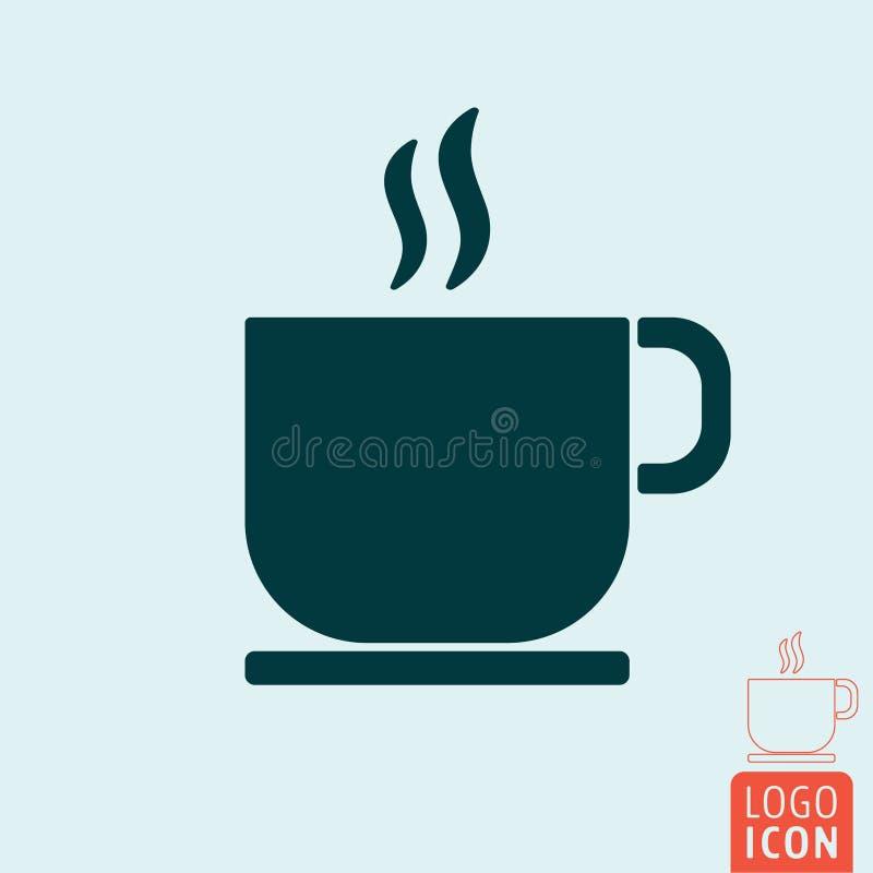 Het pictogram van de koffiekop stock afbeeldingen