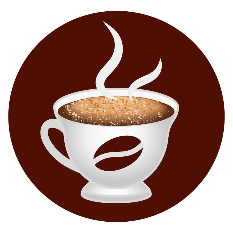 Het pictogram van de koffiekop Vector illustratie royalty-vrije illustratie