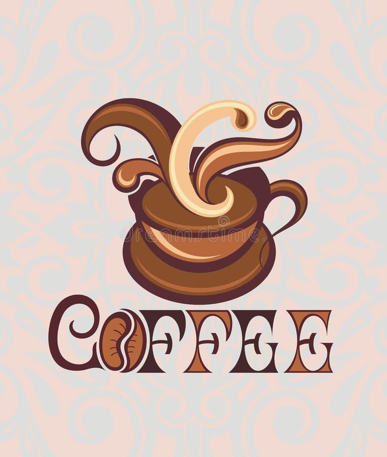 Het pictogram van de koffiekop, vectorillustratie royalty-vrije illustratie