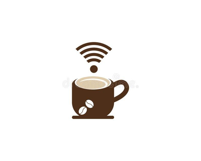 Het pictogram van de koffiekop voor het symbool vectorillustratie van de onderbrekingstijd royalty-vrije illustratie