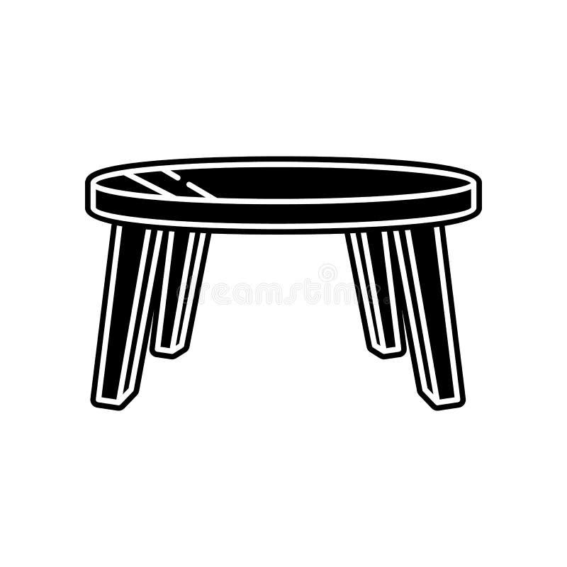het pictogram van de koffielijst Element van huishouden voor mobiel concept en webtoepassingenpictogram Glyph, vlak pictogram voo stock illustratie