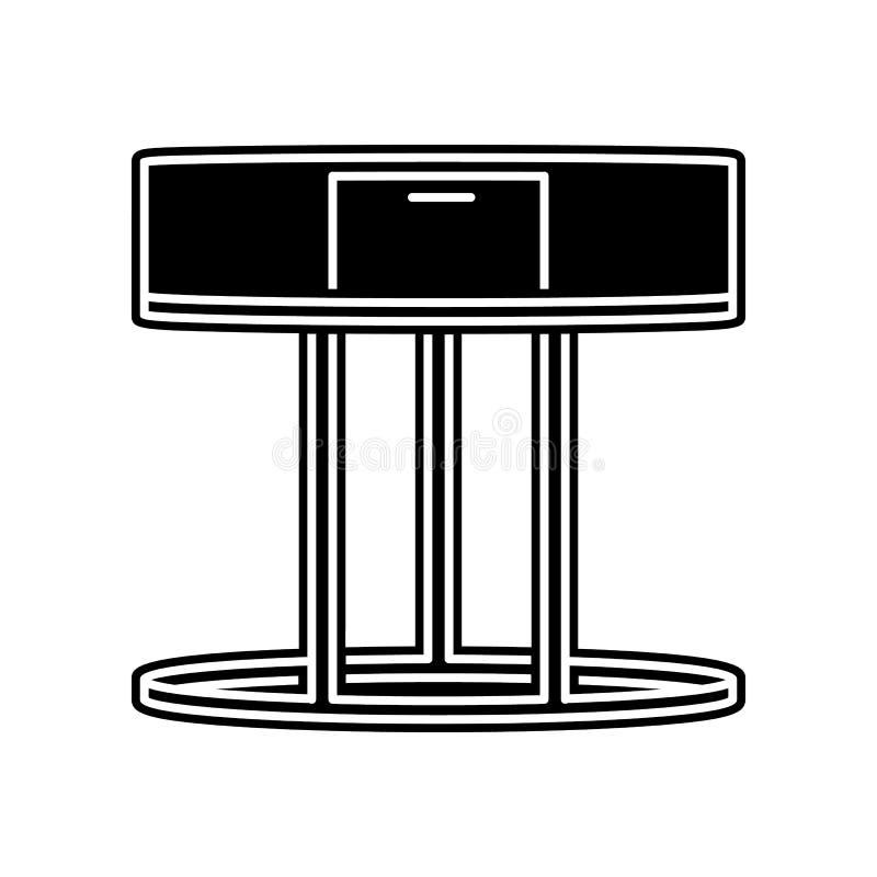 het pictogram van de koffielijst Element van huishouden voor mobiel concept en webtoepassingenpictogram Glyph, vlak pictogram voo royalty-vrije illustratie