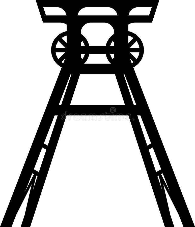 Download Het Pictogram Van De Kolenmijntoren Vector Illustratie - Illustratie bestaande uit architectuur, vector: 114226310