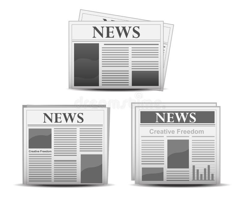 Het pictogram van de krant vector illustratie
