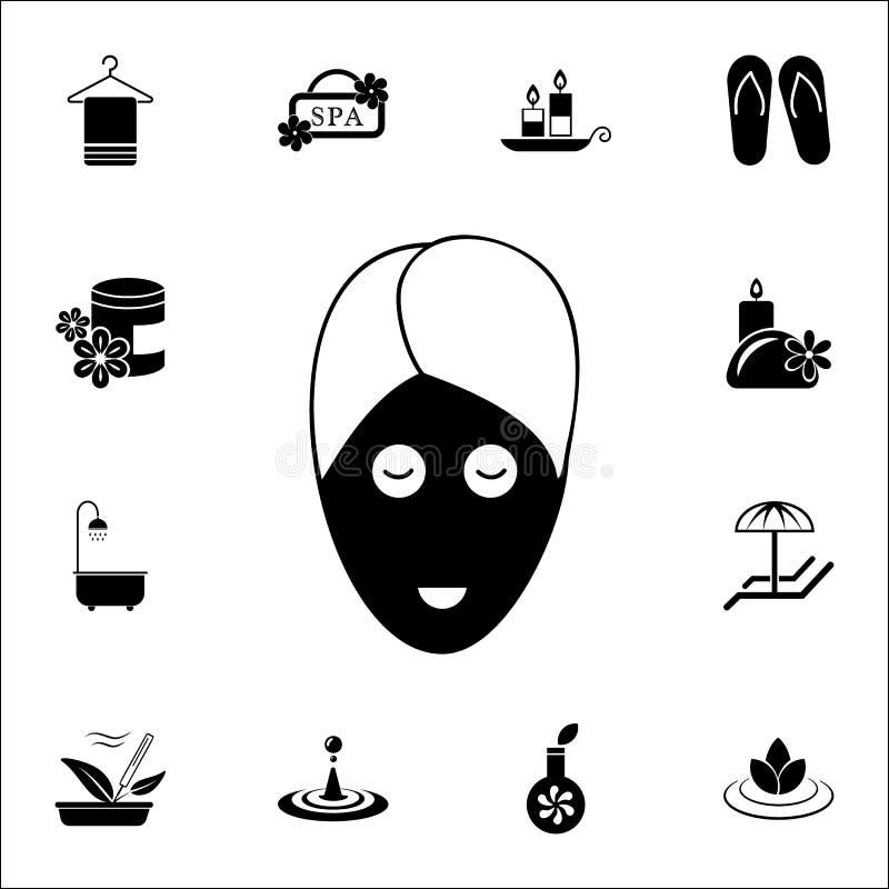 Het pictogram van de kuuroordprocedure glyph Voor Web wordt geplaatst dat en het mobiele algemene begrip van KUUROORDpictogrammen stock illustratie