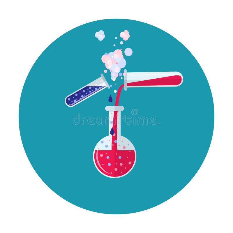 Het pictogram van de laboratoriumbuis stock illustratie