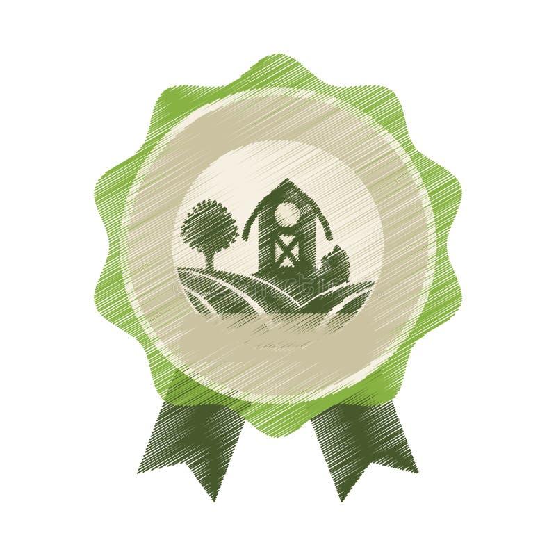 Het pictogram van de landbouwbedrijfschuur royalty-vrije illustratie