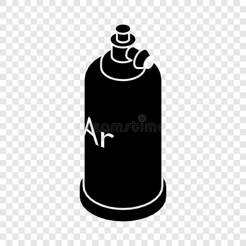 Het pictogram van de lassencilinder, eenvoudige zwarte stijl stock illustratie