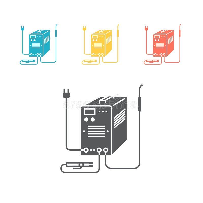 Het Pictogram van de lassenmachine Vectorteken voor grafisch Web stock illustratie