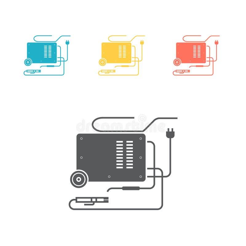 Het Pictogram van de lassenmachine Vectorteken voor grafisch Web royalty-vrije illustratie