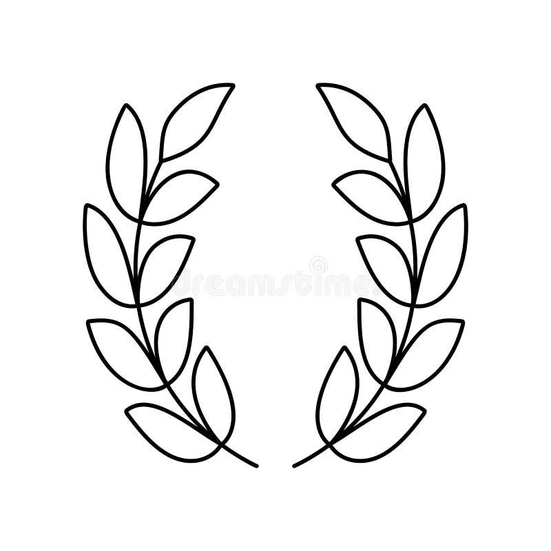 Het pictogram van de lauwerkranslijn royalty-vrije illustratie