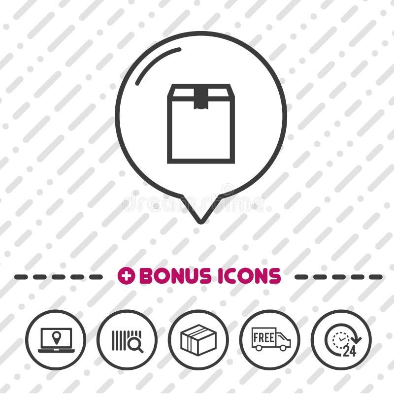 Het pictogram van de leveringslijn Logistisch symbool royalty-vrije illustratie