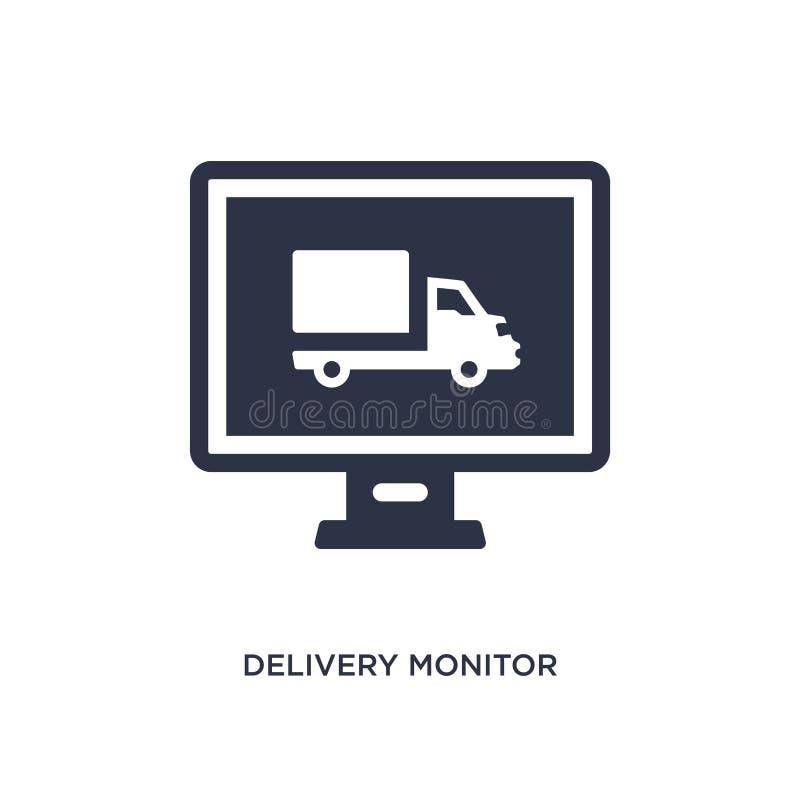 het pictogram van de leveringsmonitor op witte achtergrond Eenvoudige elementenillustratie van levering en logistiekconcept stock illustratie
