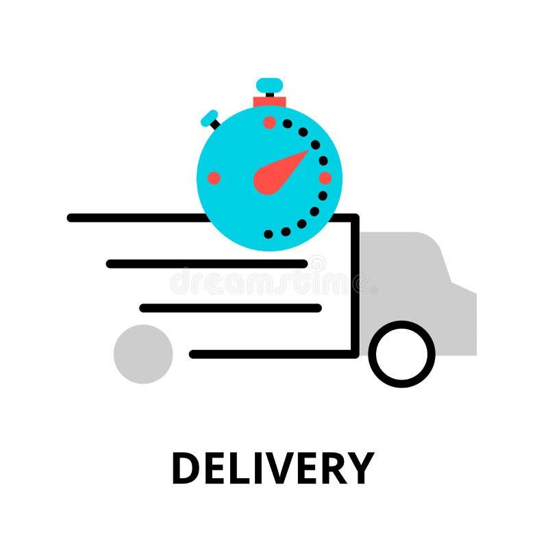 Het pictogram van de leveringsvrachtwagen, voor grafisch en Webontwerp vector illustratie