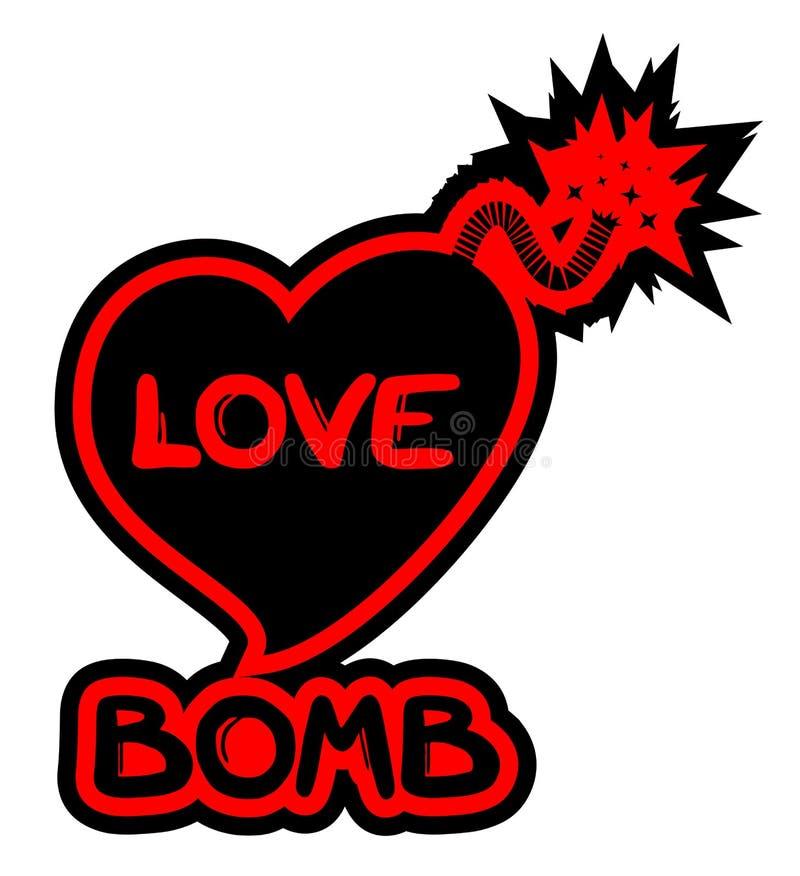Het pictogram van de liefdebom royalty-vrije illustratie