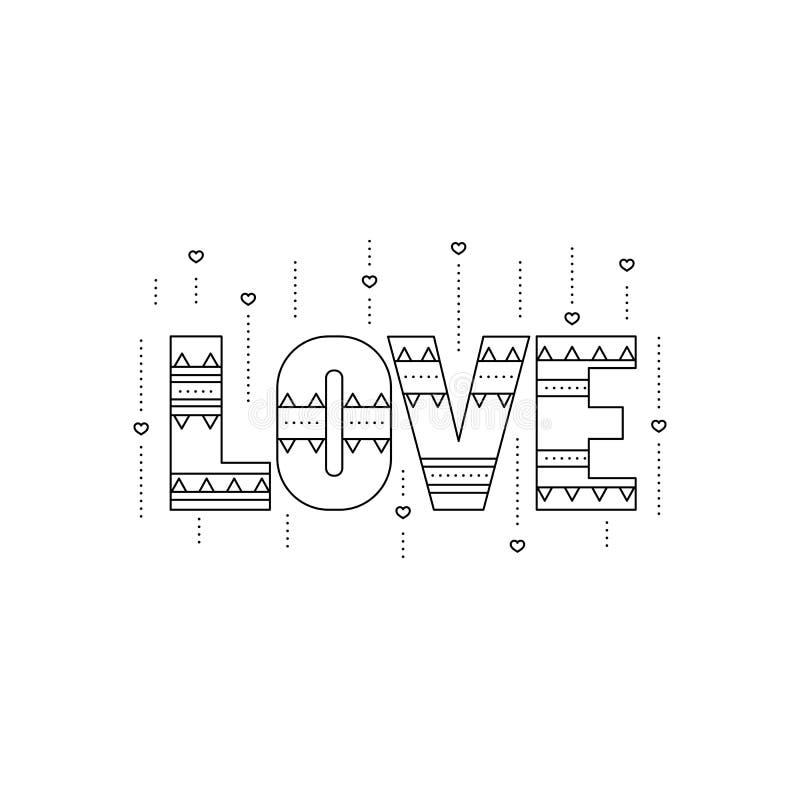 Het pictogram van de liefdelijn stock illustratie