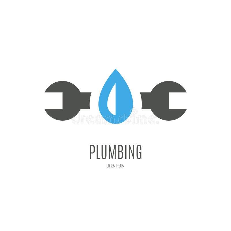 Het pictogram van de loodgieterswerkdienst stock illustratie