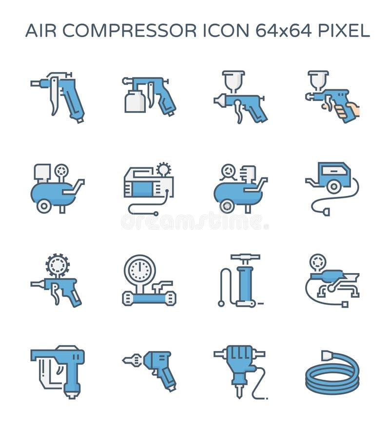 Het pictogram van de luchtcompressor vector illustratie