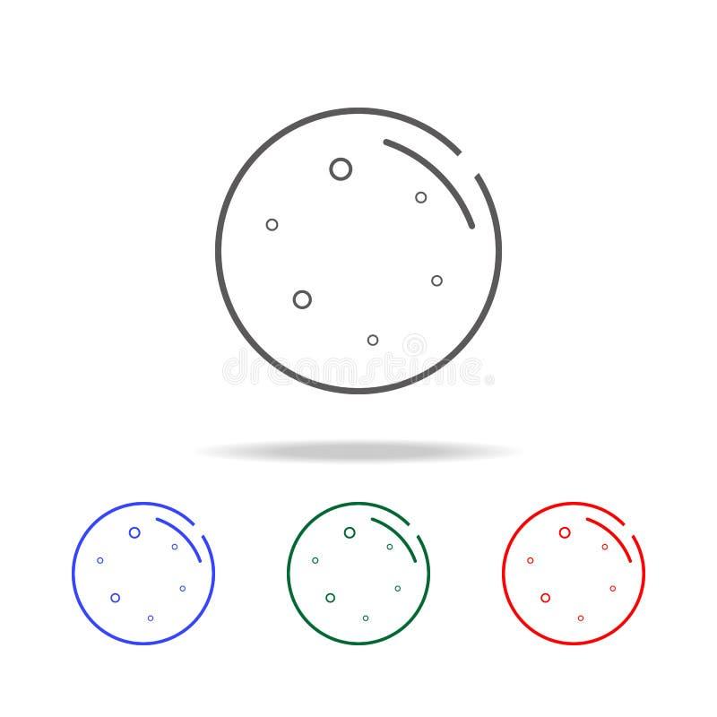 Het pictogram van de maanlijn Elementen in multi gekleurde pictogrammen voor mobiel concept en Web apps Pictogrammen voor website royalty-vrije illustratie
