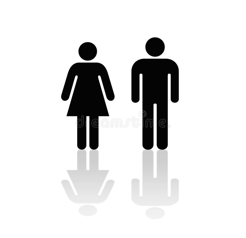 Het Pictogram van de man en van de Vrouw stock illustratie