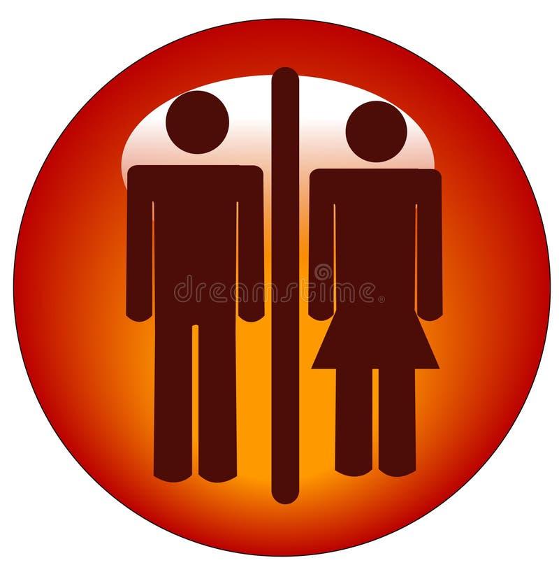 Het pictogram van de man en van de vrouw royalty-vrije illustratie