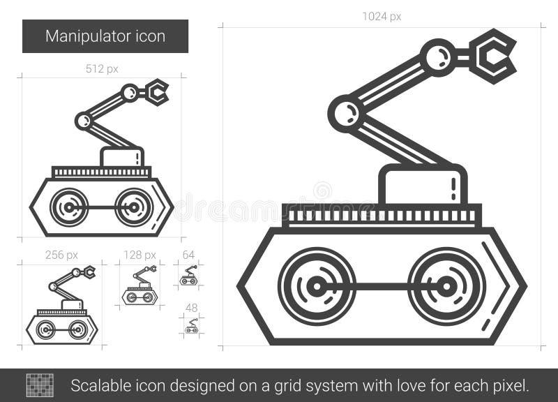 Het pictogram van de manipulatorlijn stock illustratie