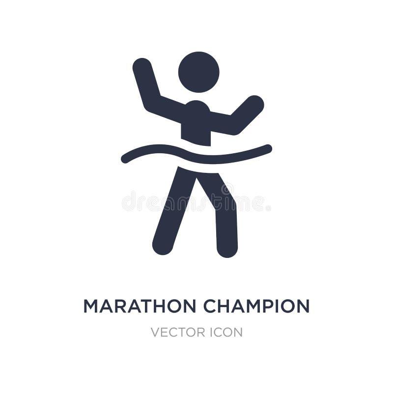 het pictogram van de marathonkampioen op witte achtergrond Eenvoudige elementenillustratie van Sportenconcept vector illustratie