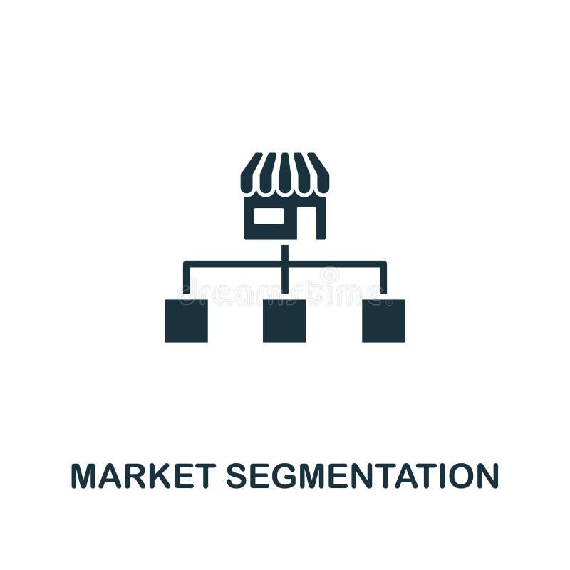 Het pictogram van de marktsegmentatie Creatief elementenontwerp van de inzameling van inhoudspictogrammen De Segmentatiepictogram stock illustratie