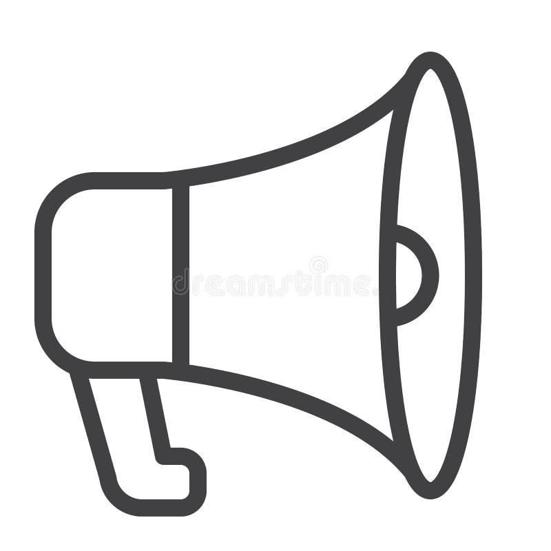Het pictogram van de megafoonlijn stock illustratie