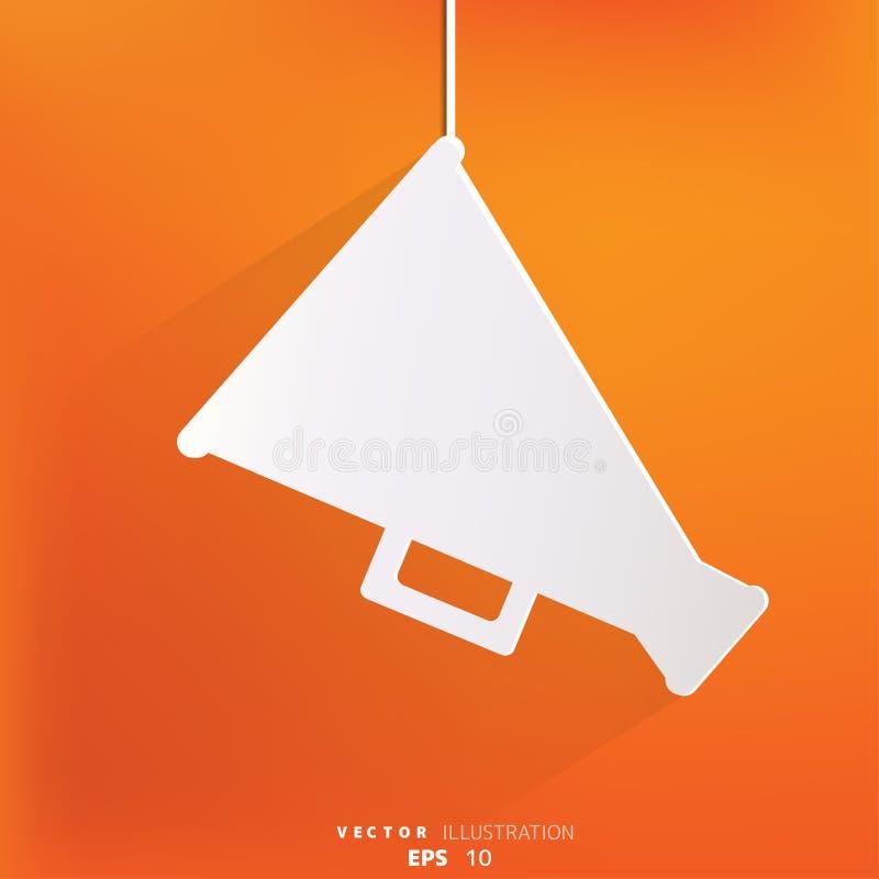 Het pictogram van de megafoonluidspreker Luid hailersymbool stock illustratie