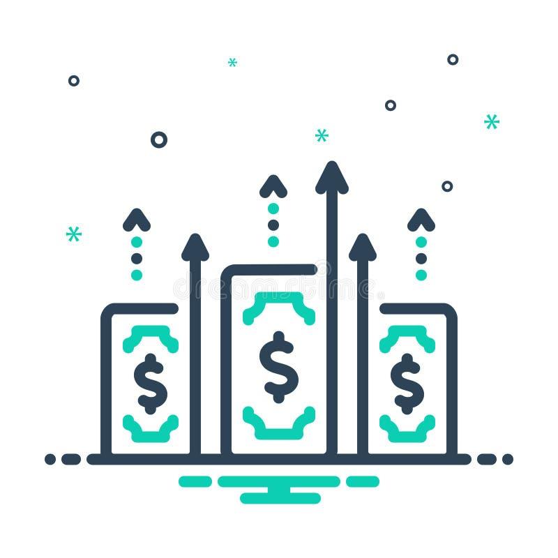 Het pictogram van de mengeling voor Aanwinst, Doeltreffendheid en Kapitaal stock illustratie
