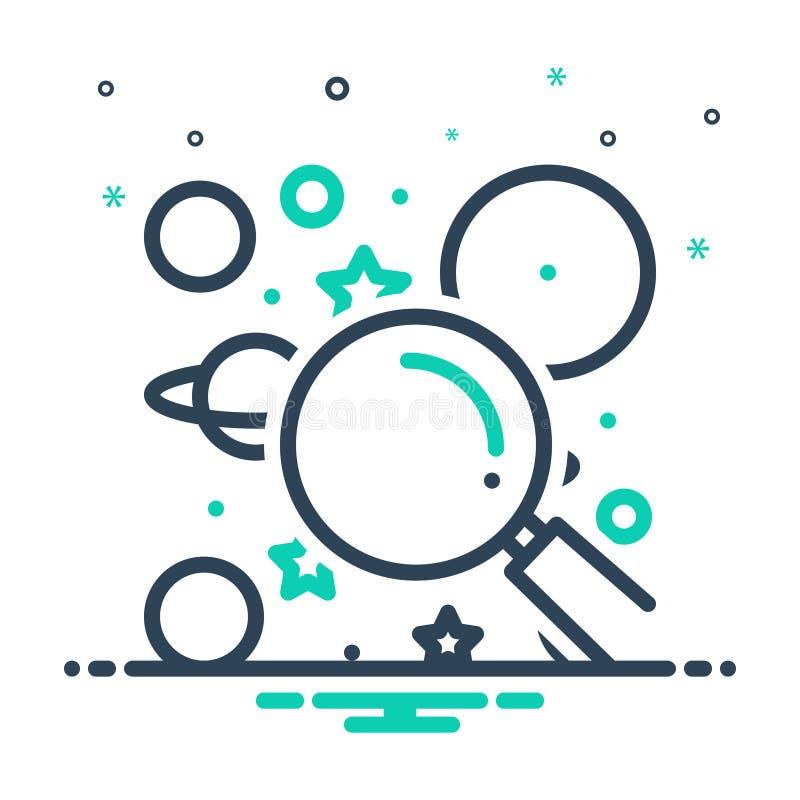 Het pictogram van de mengeling voor Ontdekking, avontuur en ontdekking vector illustratie