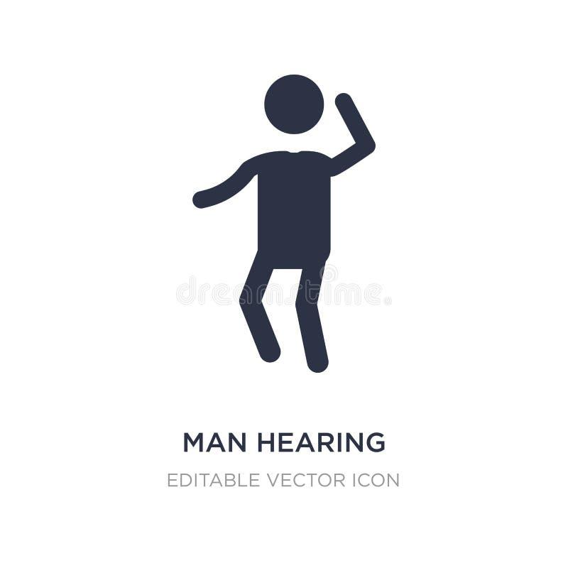 het pictogram van de mensenhoorzitting op witte achtergrond Eenvoudige elementenillustratie van Mensenconcept stock illustratie