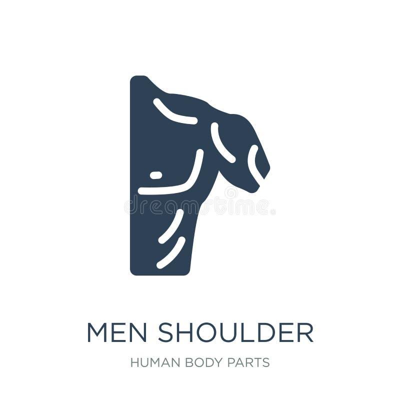 het pictogram van de mensenschouder in in ontwerpstijl Het pictogram van de mensenschouder op witte achtergrond wordt geïsoleerd  stock illustratie