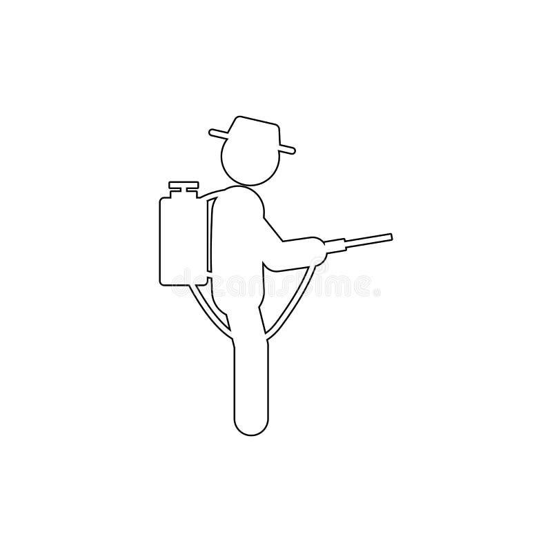 het pictogram van de mensenverstuiver Element van het tuinieren voor mobiele concept en webtoepassingenillustratie Dun lijnpictog vector illustratie